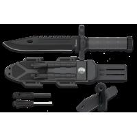 32537  Albainox knife. Flint/Sharpener/Whistle