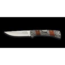 18316 Pocket knife ALBAINOX red packawood 10 cm