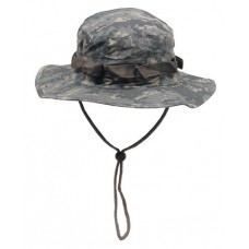 US GI Bush hat, chin strap, ACU, rip stop, AT-digital
