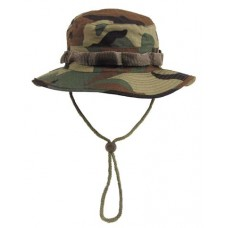 US GI Bush hat, rip stop, chin strap, woodland