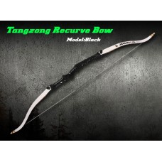 "TanZong Recurve Bow 68"" Black (White Limb)"