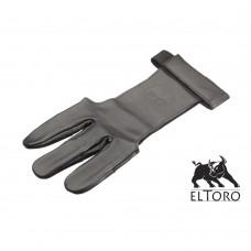 elTORO Traditioneller Schießhandschuh Black Larp