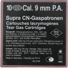 Supra cn-gaspatronen Cal. 9 mm P.A.