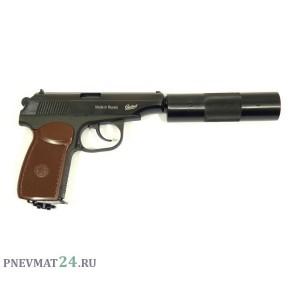 Пневматический пистолет МР-654К-22 (ПМ, с модератором)