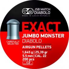 Пули JSB EXACT Jumbo Monster Diabolo 5,5 мм 1,645 грамма (200 шт.)