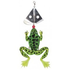 Frog with spinner blade 130mm 15g green/ black